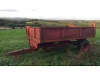 10x6 tractor tipping trailer with drop sides