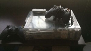 xbox 360 60gb w/ wireless adapter and 2 remotes + games $100