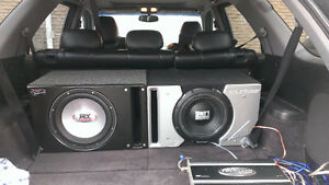 Car audio for sale: subs, boxes and amps