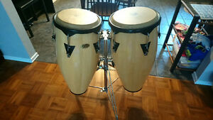 Cosmic Percussion Congas with Gibraltar Deluxe stand