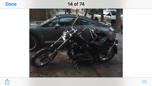 Vintage 1978 Harley Davidson Iron Head Hard Tail Chopper