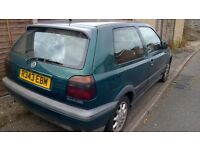 Volkswagen Golf 2 .0 gti Reg mettalic green black interior 3 door Vw alloys soon to be a classic
