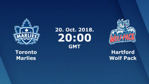 Toronto Marlies vs. Hartford Wolf Pack Tickets for sale | OCT 20