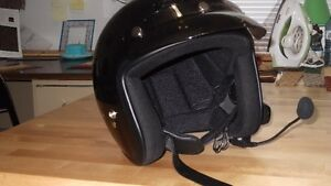 Open Face Helmets with Intercom System