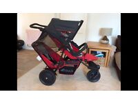 Hauck freerider double travel system pram with attachable car seat