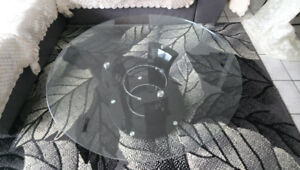 Round Glass Coffee Table for Sale