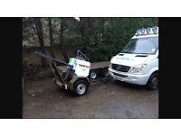 Terex MBR1-71 pedestrian roller and trailer