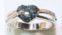 Sterling Silver Diamond Ring For Sale by Online Auction