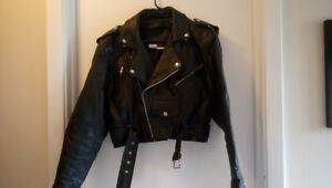 Motorcycle Leather Set Ladies Jacket and Chaps