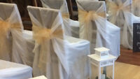 Chair Covers and Sashes - $240