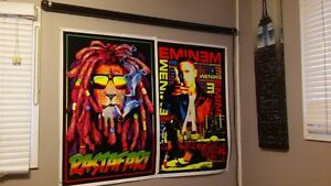 Blacklight with 2 Posters