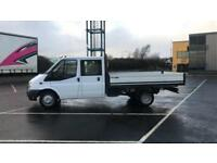 2012 61 PLATE FORD TRANSIT T350 115 CREW CAB DROPSIDE PICK UP