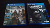 Assassin's Creed Syndicate et Call of duty Ghost PS4 Jeux
