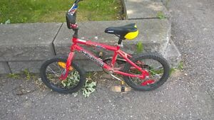 "red boys bike, 16"" tires"