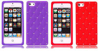 Diamond Back Cover Silicone Case For iphone 5/5S