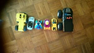 Toy cars. Different sizes