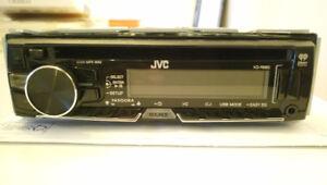 JVC Single Din Car Stereo with AM/FM, CD, MP3,  USB, 3.5 Aux