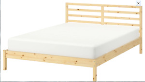 queen size Mattress from Hotel Four seasons and IKEA wooden bed