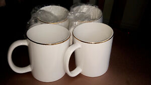 Golden rim white coffee mugs Edmonton Edmonton Area image 2