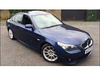 BMW 525I M SPORT BLUE FULLY LOADED SAT NAV FULL BLACK