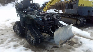 Super ATV for sale with plow and Tracks ** LOOK**