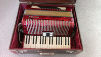 Red Hohner accordion (72 bass)