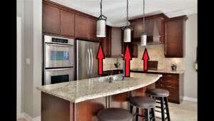 Set of 3 Solid Iron & Stainless Steel Pendants – Rustic-Chic!!!