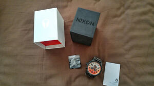 New Nixon Watch 51-30 Chrono ALL BLACK SUNRISE A083-580