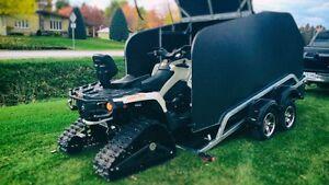 Remorque Podium pour 4 roues,VTT, VCC, motoneige, chenilles