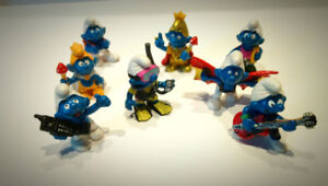 Smurf Figures - Lot of  8 For a Great Deal!
