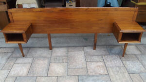 MID  CENTURY MODERN   DOUBLE  WALNUT    HEADBOARD
