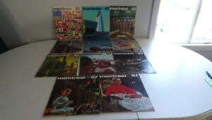 #3 Lot 11 Ancienne Revue Magazine Montreal 1967  / Expo 1967