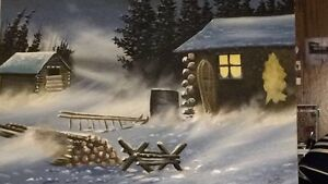 Original oil painting by Native Artist Sanford fisher