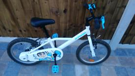 "Kids 16"" wheel bike, decathlon."