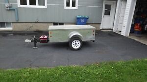 Remorque de camping en aluminium pour moto ou petite voiture West Island Greater Montréal image 3