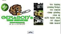 GER&SONS tree service LOCALLY owned and OPERATED!!