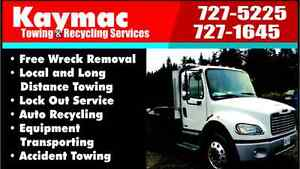 KAYMAC TOWING FREE WRECK REMOVAL