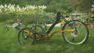 Tw Bent Artifice : tadpole recumbent trike,  electric assist