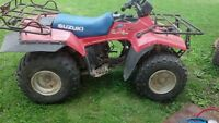 Suzuki Quad Runner 250 4x4 Part out