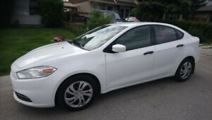 Clean Active Dodge Dart,  Low km.  6 Speed Manual