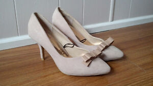Beige High Heeled Shoes