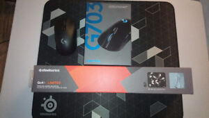 Logitech g703 and Qck+ Limited    and   best buy 2yr coverage!