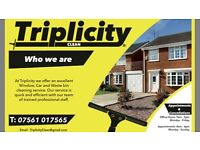 Triplicity Clean - Guttering, Bin & Window cleaning plus Mobile car valeting service trade