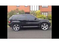 "BMW X5 3.0 sports black tinted 22"" Khan alloys"