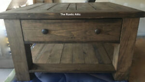 Handcrafted Harvest Coffee End Console Tables & Nightstands