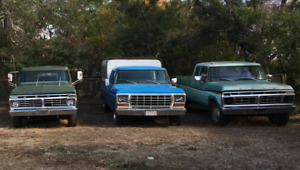 70's Fords classics crew cab, extended cabs F150, F250, F350