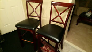 2 counter height pub style chairs (no table)