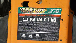 Yard king performance weed trimmer London Ontario image 2