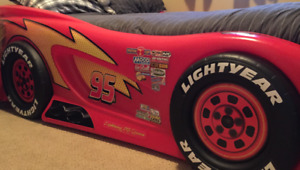 Twin size Lightning McQueen car bed