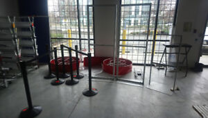 Store Fixture: Crowd Barriers/ 4 - way Stanchions